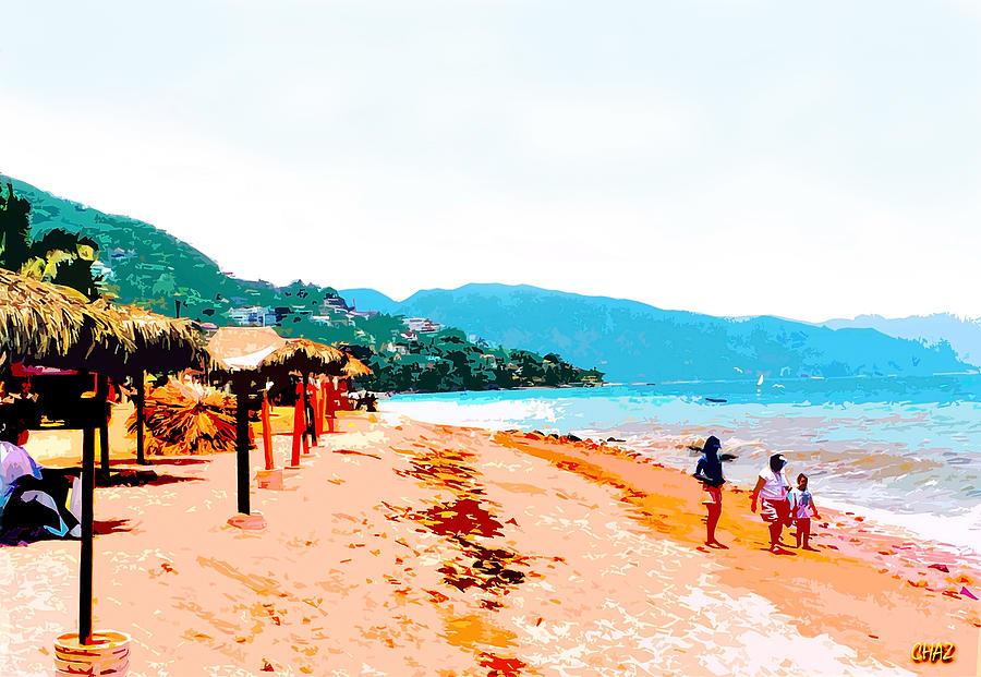 Island Beachwalkers Painting