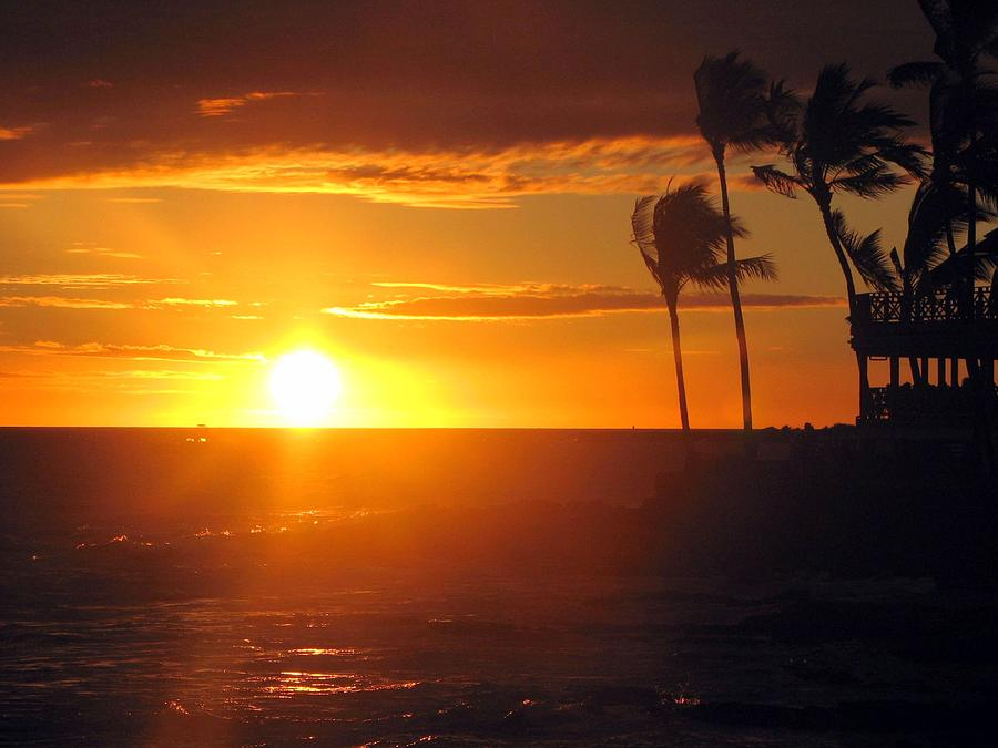 Sunset Photograph - Island Breeze by Athala Carole Bruckner