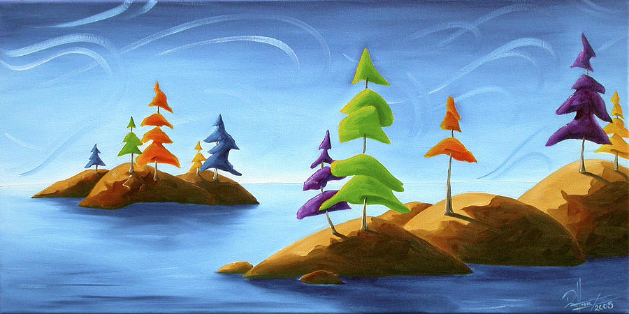 Landscape Painting - Island Carnival by Richard Hoedl