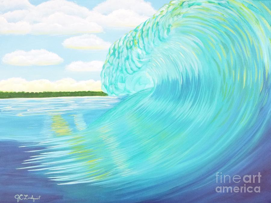 Island Curl Left by Jenn C Lindquist