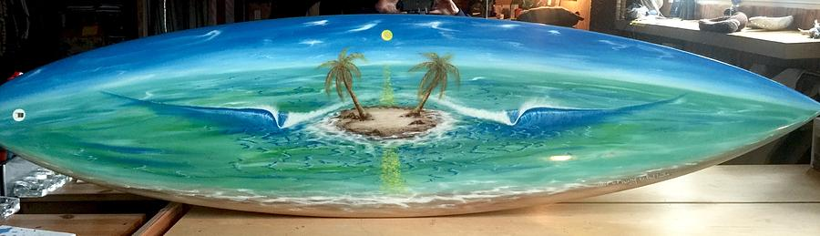 Surf Dream Painting - Island Dream  by Paul Carter