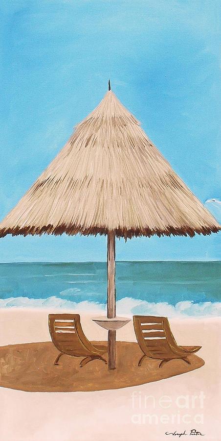 Palm Tree Painting - Island Dreams 2 by Joseph Palotas