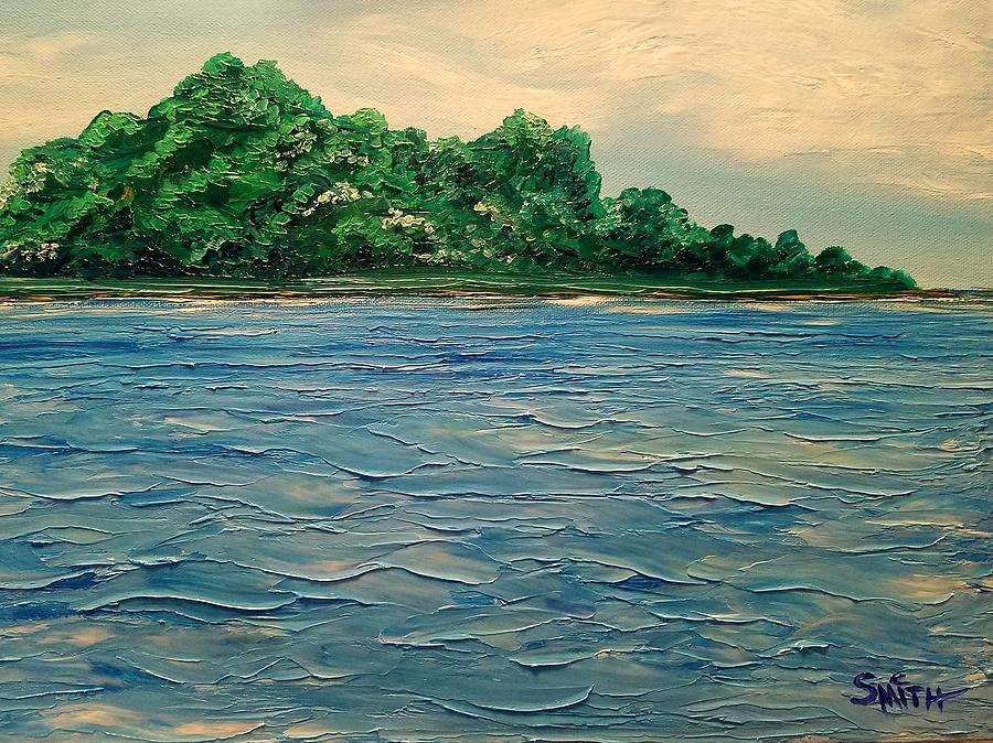 Waves Painting - Island Getaway  by Chris Smith