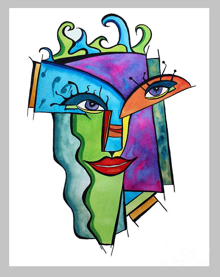 Island Painting - Island Girl by Carolyn Weir