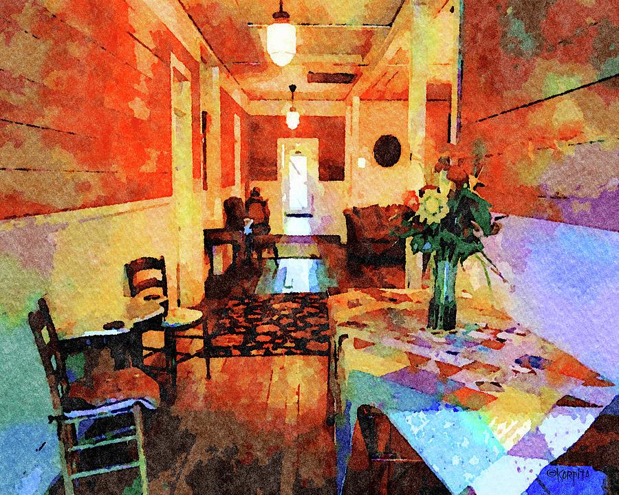 Island Hotel Cedar Key FL - Interior by Rebecca Korpita