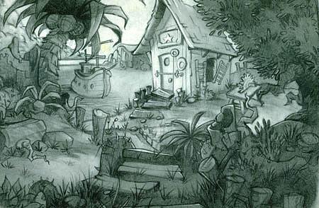 Island Drawing - Island House by Shantro  Buck