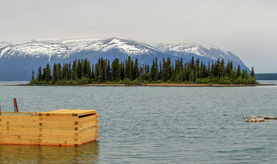 Mountains Photograph - Island in Harbor by Crewdson Photography