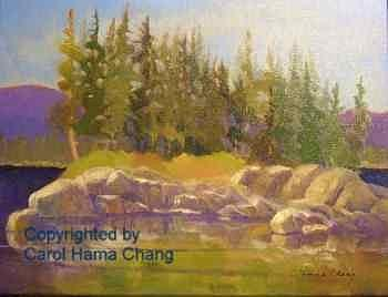 Island In The Sun Painting by Carol Hama Chang