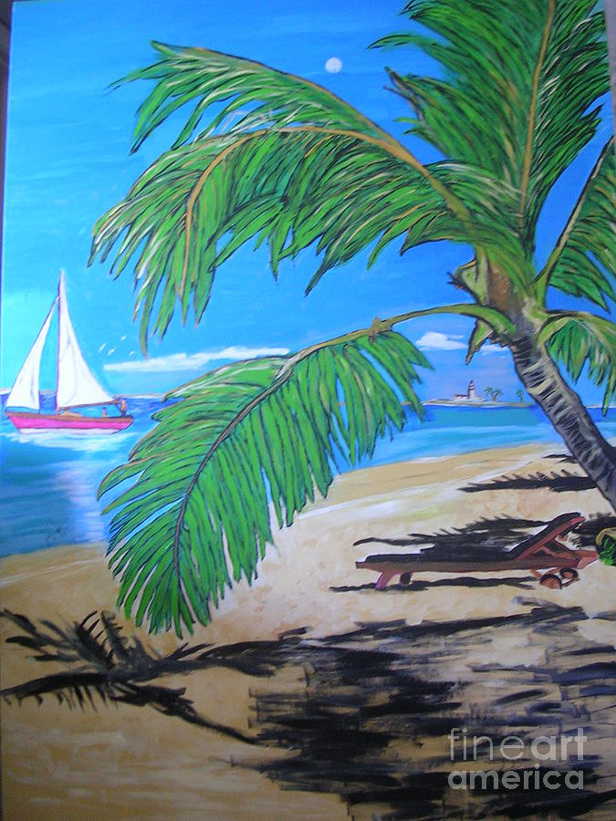 Island Painting by Jeffrey Foti