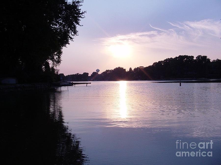 Sunset Photograph - Island Lake Sunset by Deborah Finley