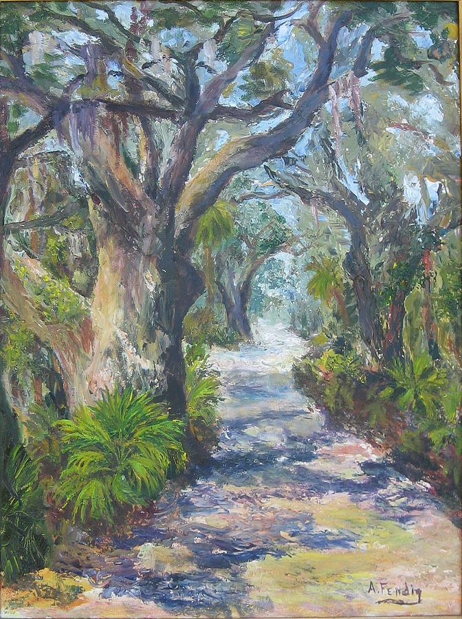 Island Lane Painting by Albert Fendig
