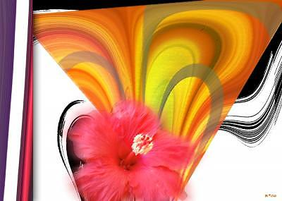 Hibiscus Digital Art - Island Memoir by Brenda Starr