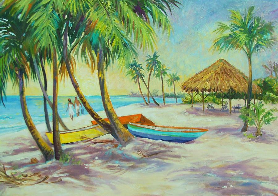 Island Painting - Island Memories by Dianna  Willman