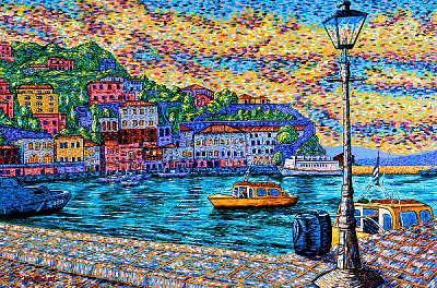 Seaport Painting - Island Of Hydra Greece by Max R Scharf