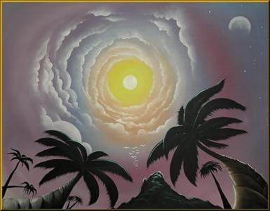 Island Paradise Painting by Carlos Rosado