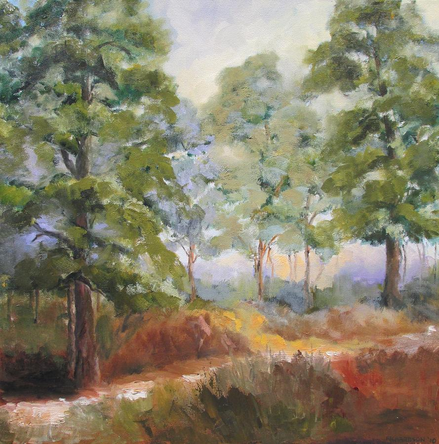 St. George Island Painting - Island Pines by Susan Richardson