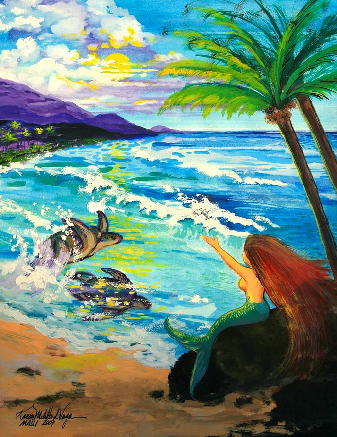 Maui Painting - Island Sisters by Karon Melillo DeVega