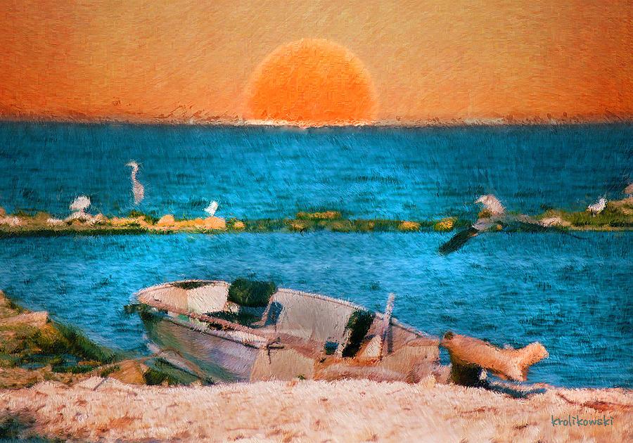 Island Sunset Painting