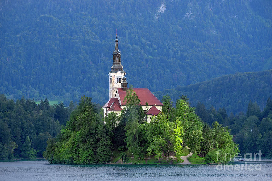 Bled Photograph - Island With Church On Bled Lake, Slovenia by Vyacheslav Isaev