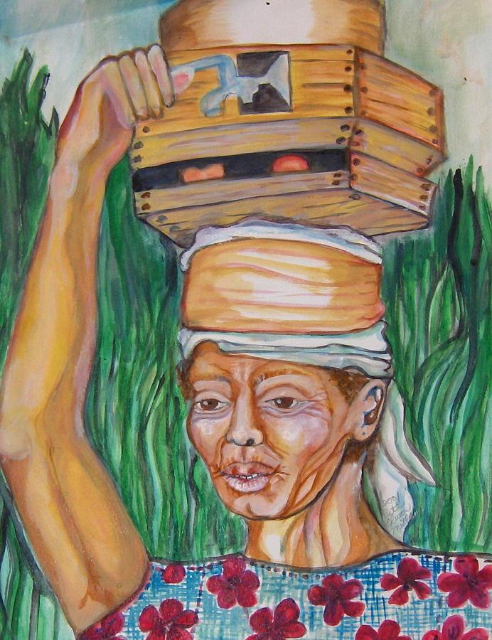 Portrait Painting - Island Women by Ruth Olivar Millan