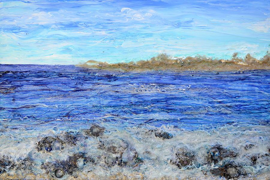 Mixed Media Painting - Islands And Surf by Regina Valluzzi