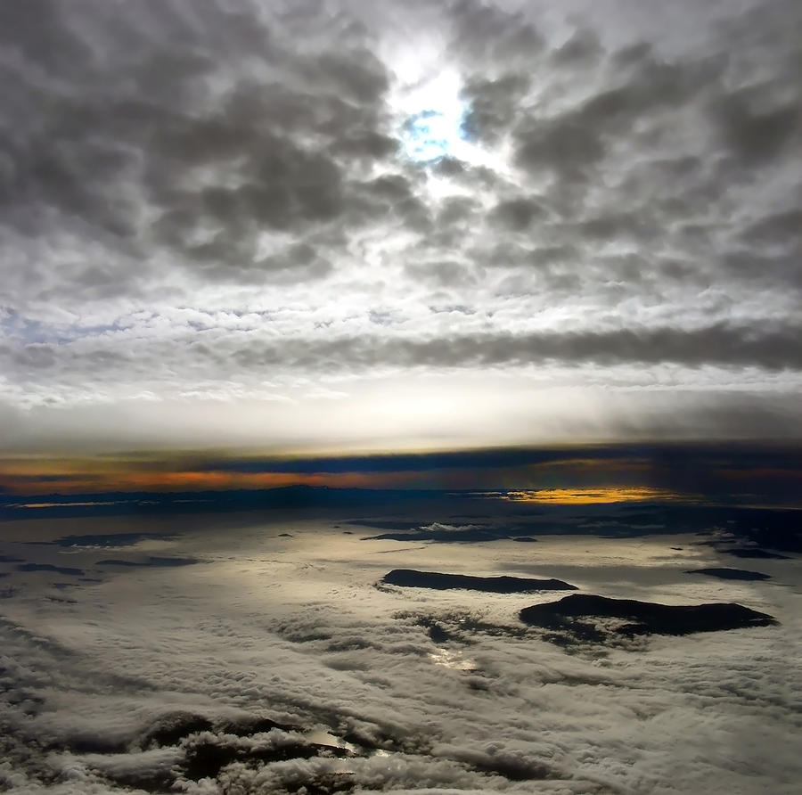 Landscape Photograph - Islands In The Clouds by Mary Lane