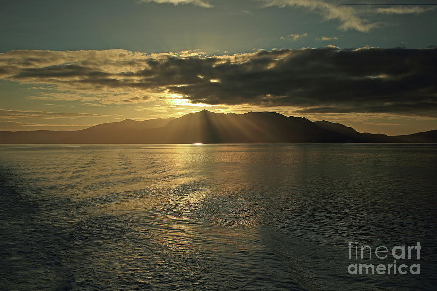 Isle of Arran at Sunset by Maria Gaellman