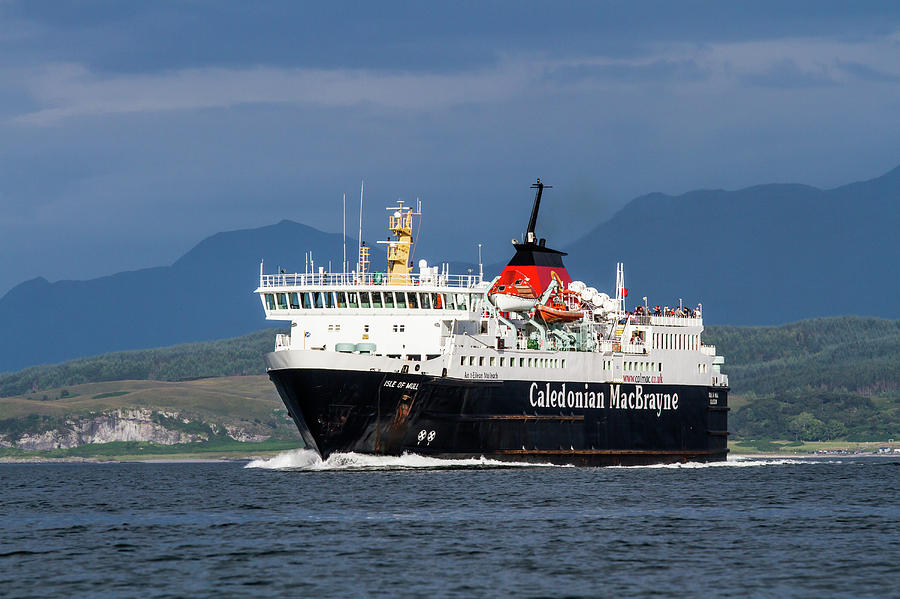 Isle of Mull Ferry crosses the Firth of Lorne by Max Blinkhorn