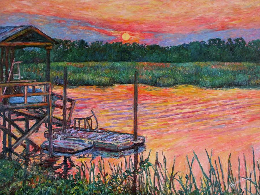 Isle Of Palms Painting - Isle of Palms Sunset by Kendall Kessler