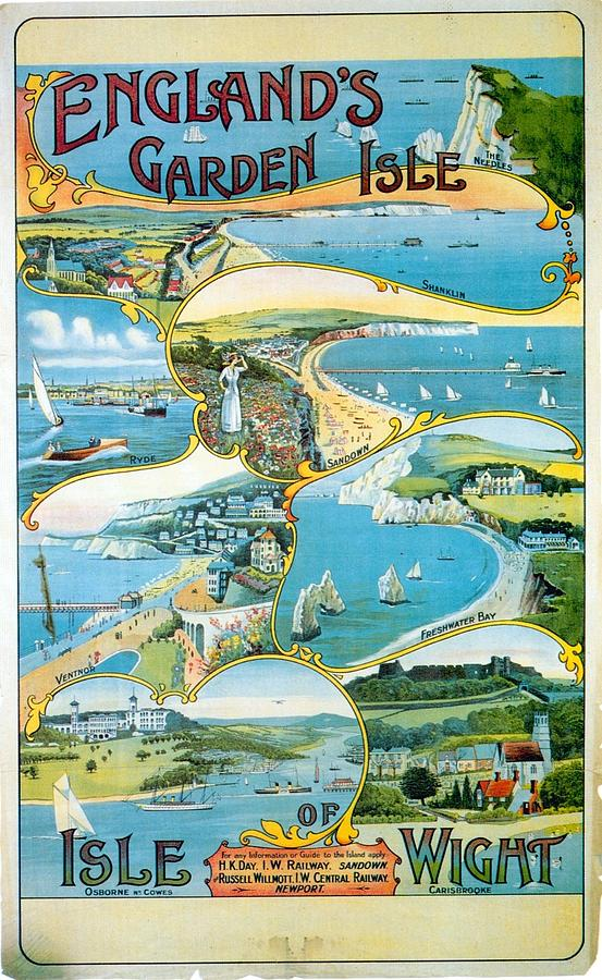 Isle Of Wight England - Vintage Travel Advertising Poster Painting