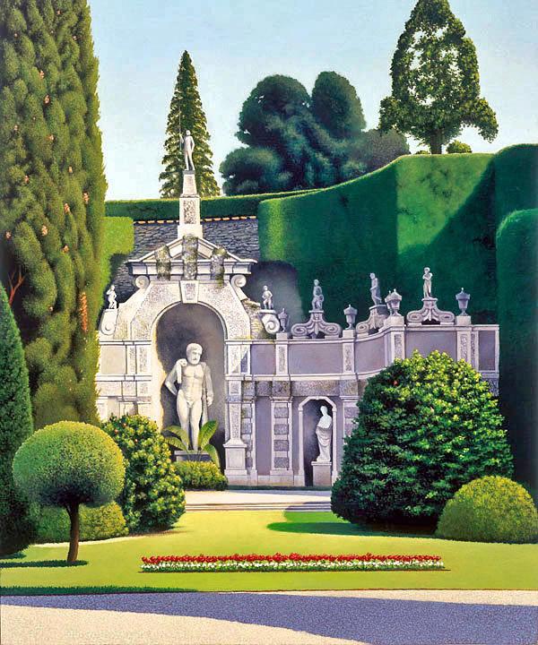 Gardens By Maria: Isola Bella Gardens I Painting By Eduardo De La Maria