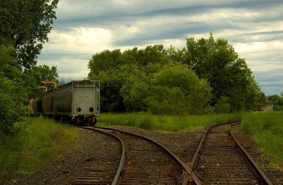 Train Photograph - Isolation On The Tracks by Nicole Kramer