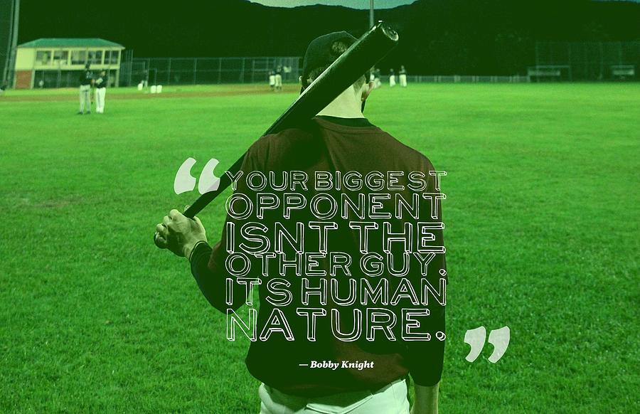 Ispirational Sports Quotes Bobby Knight Painting By Bobby Knight