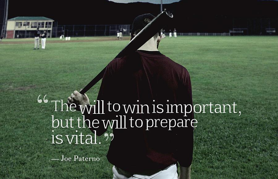 Motivational Painting - Ispirational Sports Quotes  Joe Paterno by Joe Paterno