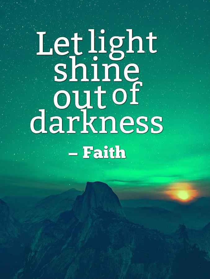 Ispirational Sports Quotes Let Light Shine Painting By Celestial Images