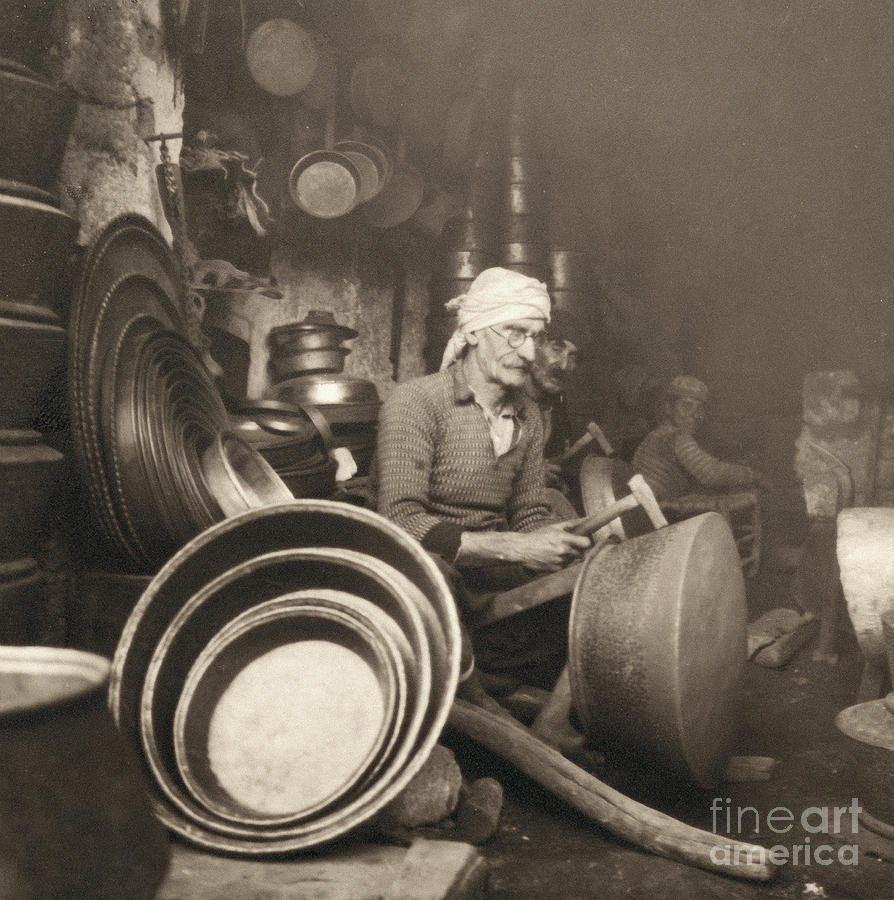 1938 Photograph - Israel: Metal Workers, 1938 by Granger