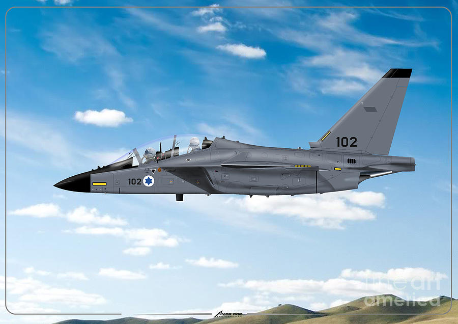 Israeli air force airmacchi M-346I master lavi in flight by Amos Dor