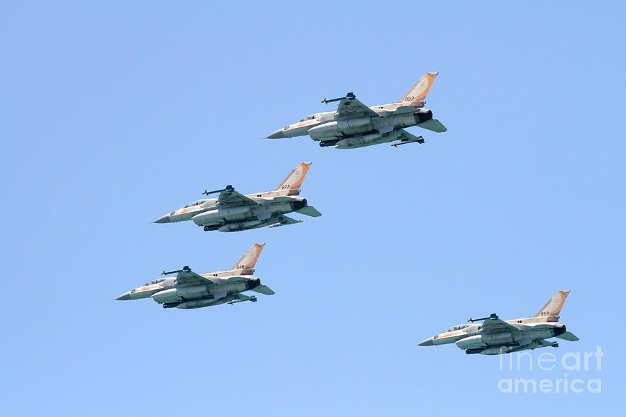 Iaf Photograph - Israeli Air Force F-16  by Vladi Alon
