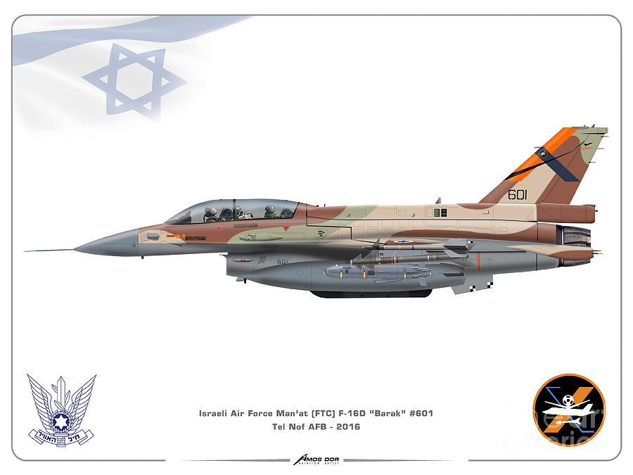 Israeli Air Force F-16D Barak - FTC by Amos Dor