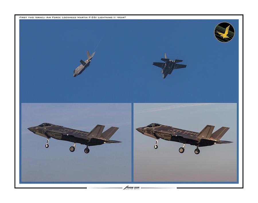 Israeli Air Force First two F-35I ADIR by Amos Dor