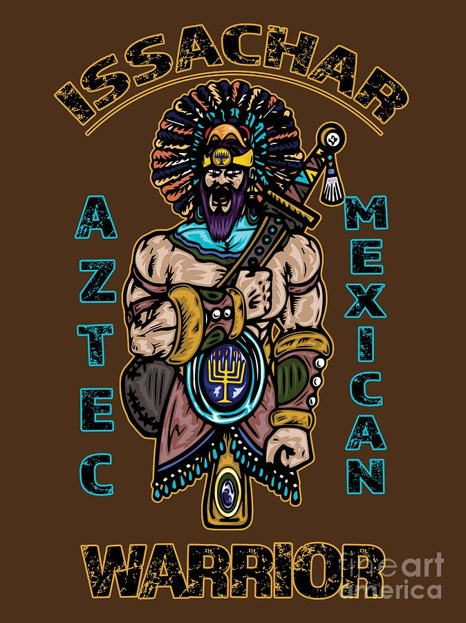 Issachar Digital Art - Issachar Aztec Warrior by Robert Watson