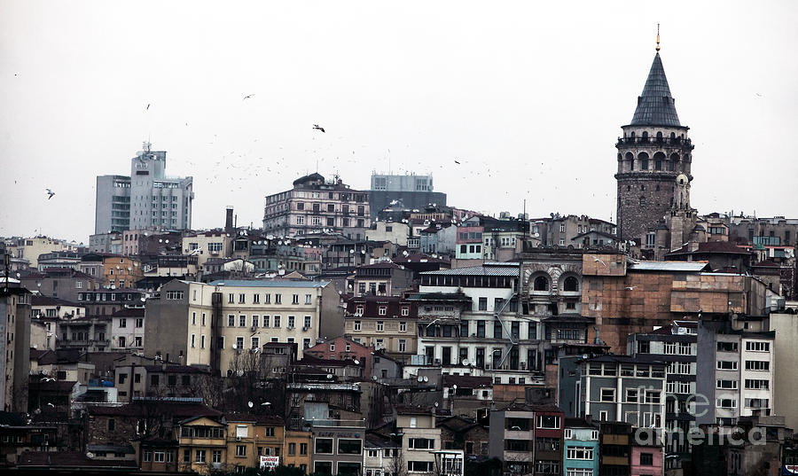 Islamic Photograph - Istanbul Buildings by John Rizzuto