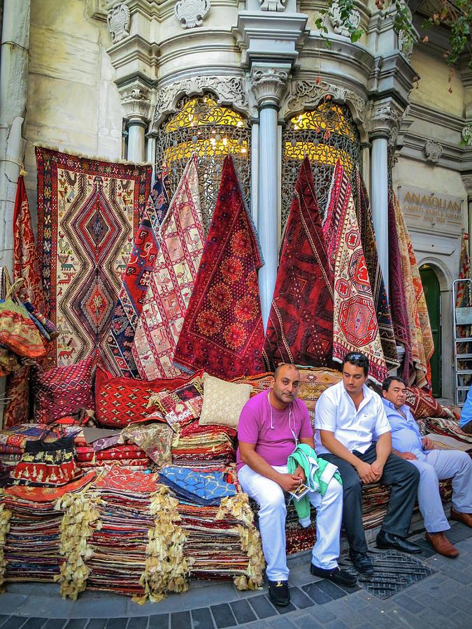 Istanbul Photograph - Istanbul Rug Merchants by Ross Henton