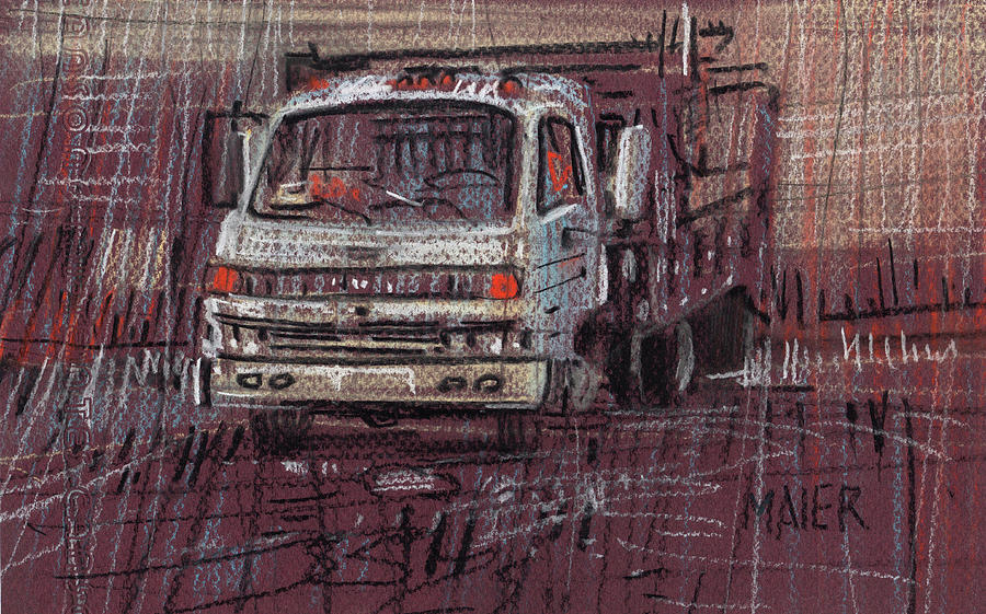 Truck Drawing - Isuzo Truck by Donald Maier