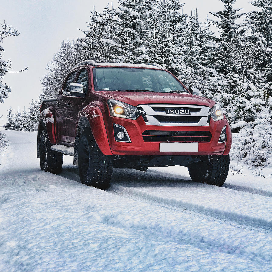 Snow Photograph - Isuzu In The Snow by Carlton Boyce