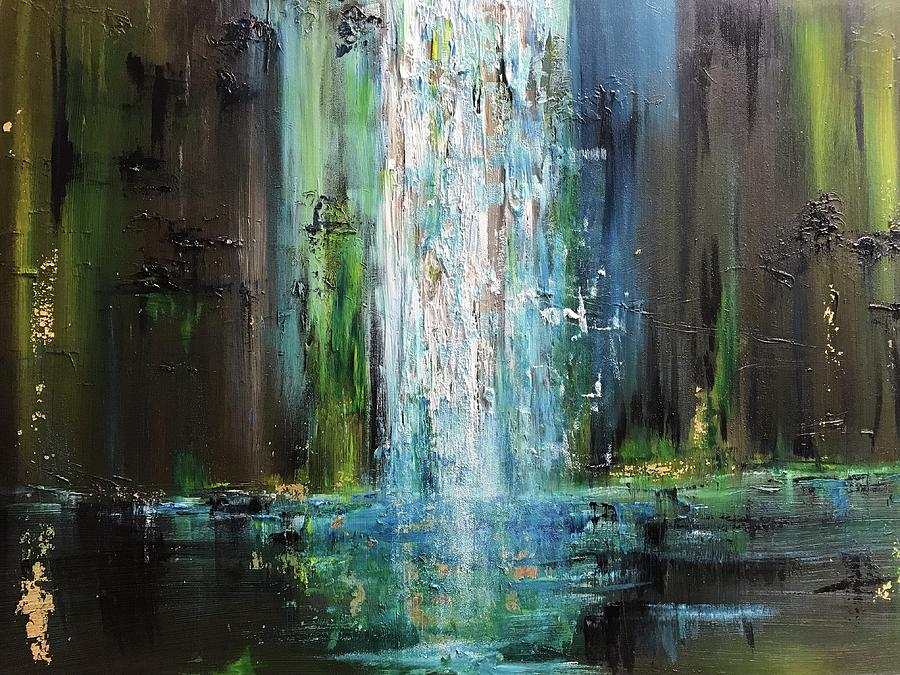Water Painting - It Falls Here by Marilyn Comparetto