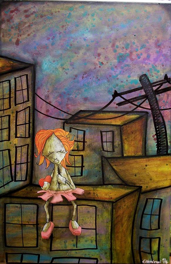 It Hurts Realy Deep This Time Painting by Fabio Napoleoni