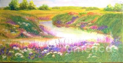 Stream Painting - It Rained this Summer by Carol Hama Chang