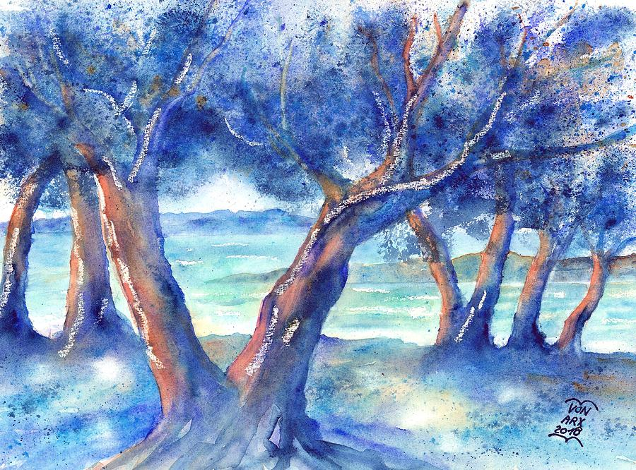 Olive Trees in Greece by Sabina Von Arx