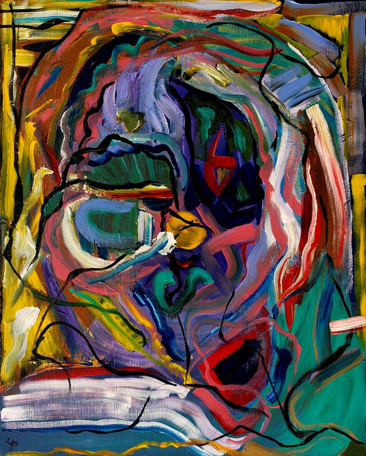 Abstract Painting - It Was All In My Head by Farin MEMA Greer
